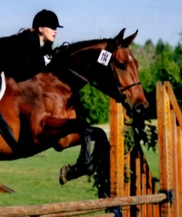 Tracy Dopko riding  Watch Me